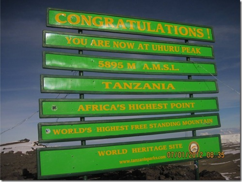 The Kilimanjaro Sign–Old and New (3/4)