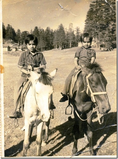 me and my brother pranab in our childhood(left me)
