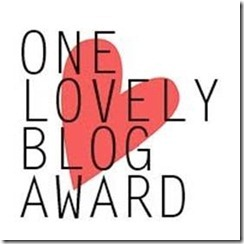 I Received the One Lovely Blog Award (2/6)