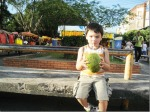 Drinking Coconut Milk in Manaus, Brazil